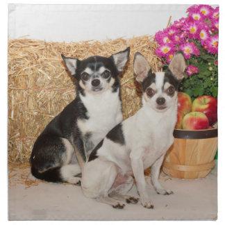 Chihuahua im Fall Stoffserviette