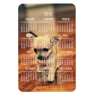 Chihuahua-Kalender-Foto-Magnet 2018 4x6 groß Magnet