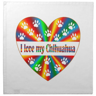 Chihuahua-Liebe Stoffserviette