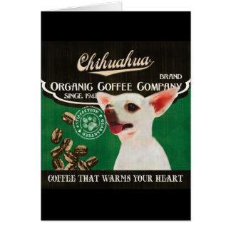 Chihuahua-Marke - Organic Coffee Company Karte