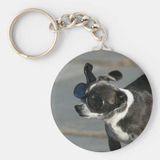 Chihuahua mit Schutzbrillen Schlüsselanhänger