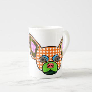 Chihuahua-Pop-Kunst Porzellantassen
