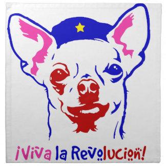 Chihuahua-Revolution Stoffserviette