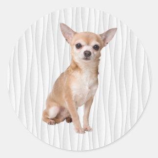 Chihuahua Runder Aufkleber