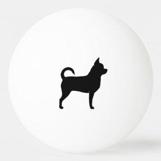 Chihuahua-Silhouette Tischtennis Ball
