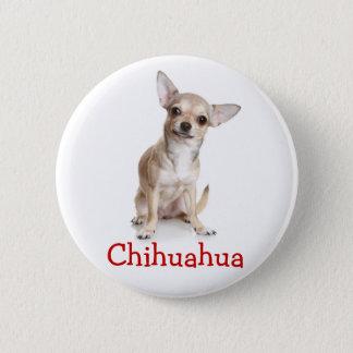 Chihuahua TAN und weißes Hündchen Runder Button 5,7 Cm