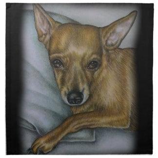 Chihuahuazeichnen der Hundetierkunst Serviette