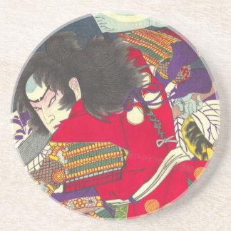 Chikanobu Samurai-3:5 Sandstein Untersetzer