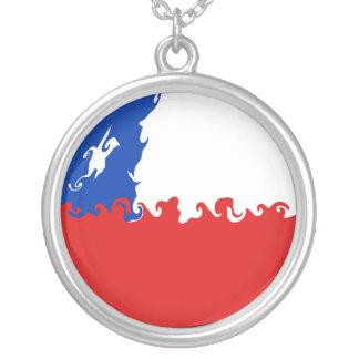 Chile-Gnarly Flagge Halskette Mit Rundem Anhänger