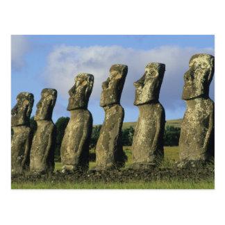 Chile, Ostern-Insel, Rapa Nui, Ahu Akivi Postkarte