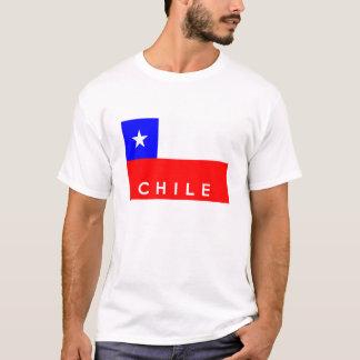 Chilelandflaggen-Textname T-Shirt