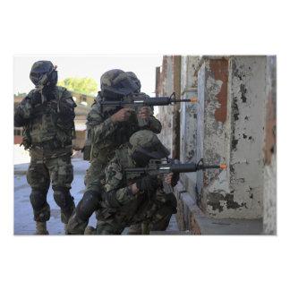 Chilenische Marinesoldaten Fotografischer Druck