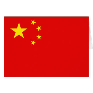 China-Flagge Notecard Mitteilungskarte