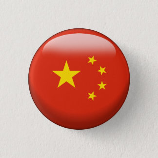 China-Flagge Runder Button 3,2 Cm