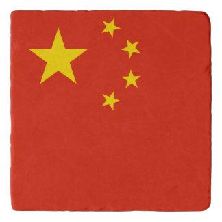 China-Flagge Töpfeuntersetzer