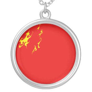 China-Gnarly Flagge Halskette Mit Rundem Anhänger