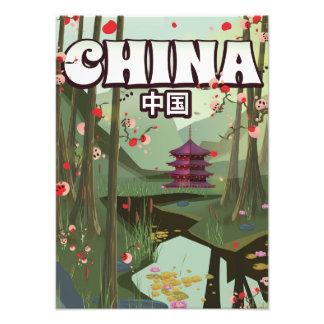 China-Wasser-Garten-Cartoonplakat Fotodruck
