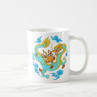 Chinesische blaue Drachen (v7) Tasse
