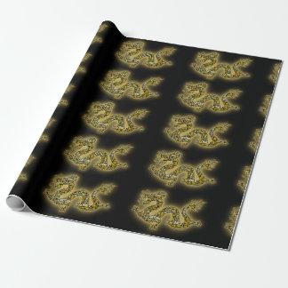 Chinesischer Festival-Drache Geschenkpapier