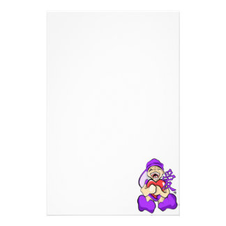 Chinesischer Liebeanime-lila Charakter, der Herz Briefpapier