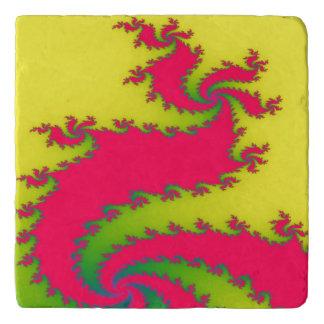 Chinesischer neues Jahr-Drache-Fraktal-Stein Töpfeuntersetzer