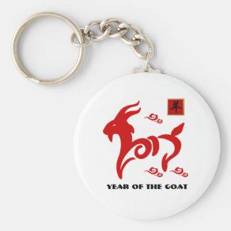 Chinesisches Jahr der Ziege/des RAM-Geschenks Schlüsselanhänger