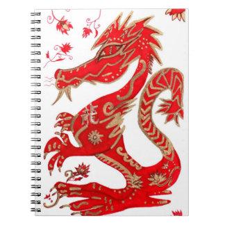 Chinesisches Jahr des Drache-Notizbuches Notizbücher