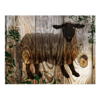 chinesisches neues Jahr der hölzernen Schafe 2015 Postkarte
