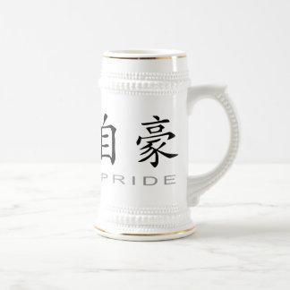 Chinesisches Symbol für Stolz Bierkrug