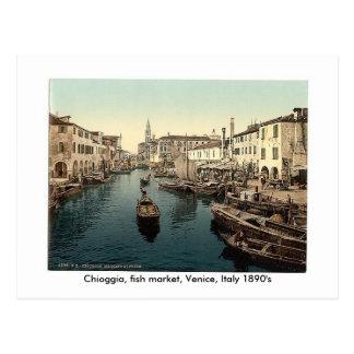 Chioggia, Fischmarkt, Venedig, Italien 18… Postkarte