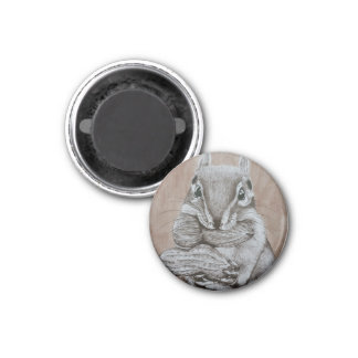 Chipmunk Runder Magnet 3,2 Cm