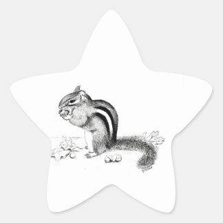 Chipmunk Stern-Aufkleber