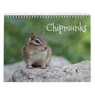 Chipmunks Wandkalender