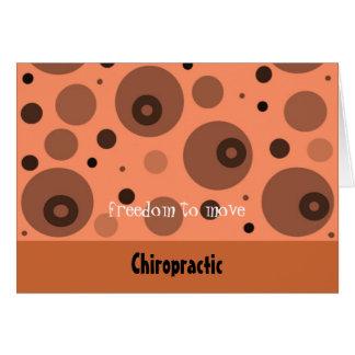 Chiropraktik-abstrakte Orange und Brown Karte