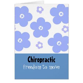 Chiropraktik-Blau-Blumenmuster Karte