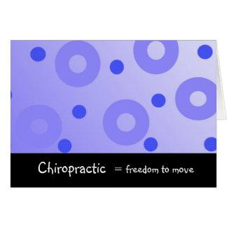 Chiropraktik entspricht Freiheit, um sich zu Karte