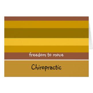 Chiropraktik-goldener Streifen-Entwurf Karte