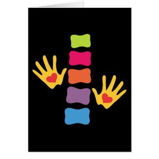 Chiropraktik-Hände und Dorn-leere Karte