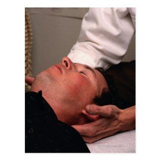 Chiropraktik-Manipulation Postkarte