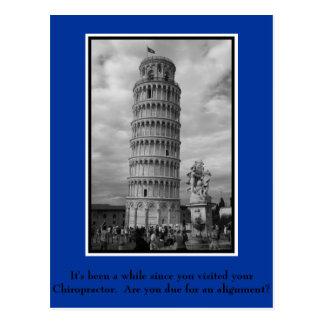 Chiropraktik-Postkarte für geduldige Reaktivierung Postkarte