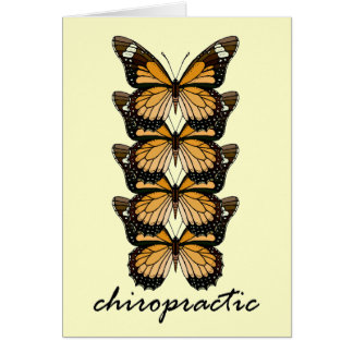 Chiropraktik-Schmetterlinge Karte