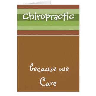 Chiropraktik-Sorgfalt Karte