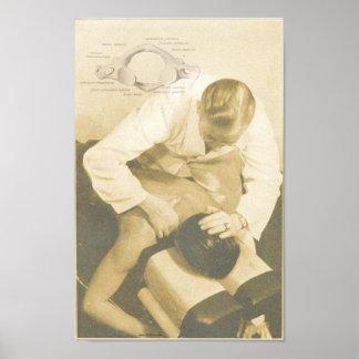 Chiropraktik-spinale Anpassungs-Vintager Druck Poster