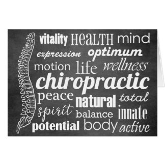 Chiropraktik-Wort-Collagen-Tafel Karte