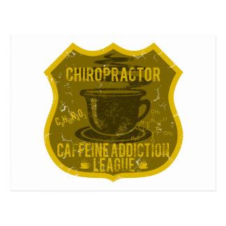Chiropraktor-Koffein-Sucht-Liga Postkarte