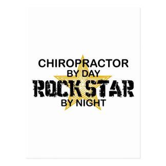 Chiropraktor-Rockstar bis zum Nacht Postkarte