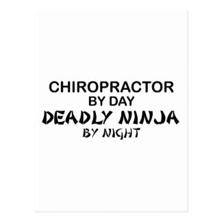Chiropraktor tödliches Ninja bis zum Nacht Postkarte