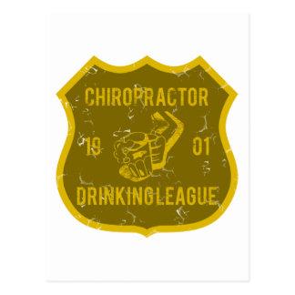 Chiropraktor-trinkende Liga Postkarte