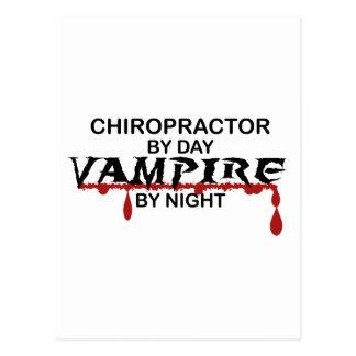 Chiropraktor-Vampir bis zum Nacht Postkarte
