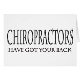 Chiropraktoren haben Ihre Rückseite Karte